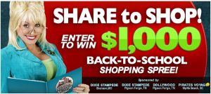 share to shop win $1000